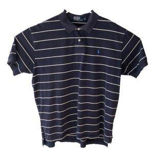 Ralph Lauren Polo Mens XL Striped Blue Polo Shirt